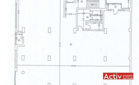 Dr. Felix 87 închiriere birouri centru Piața Victoriei plan
