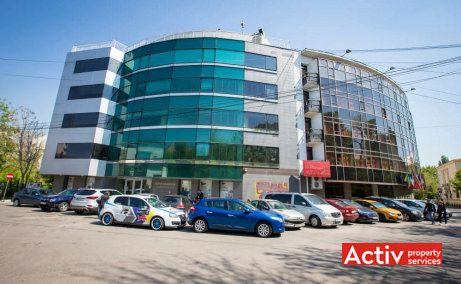 Jupiter House vedere stradală Strada Mihail Moxa București, spații birouri centru, zona Romană