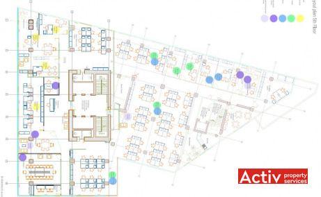 Cube Offices Victoriei închiriere birouri centru Piața Victorie plan clădire