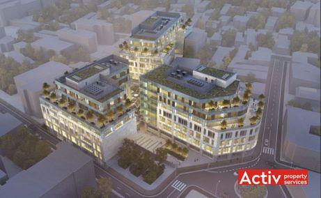 The Landmark spații de birouri Bucureşti în zonă ultracentrală apropiere Piaţa Romană, perspectiva aeriana