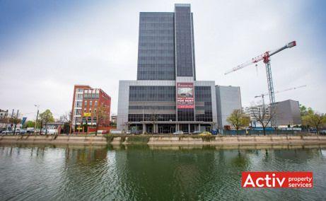 Riverside Tower vedere vis-a-vis de Regie, închiriere birouri București lângă metrou Grozăveşti