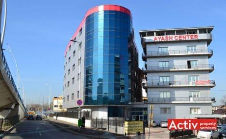 Ayash Center vedere din Bulevardul General Vasile Milea - spații birouri mici lângă metrou Grozăvești, oferta actualizată 2018