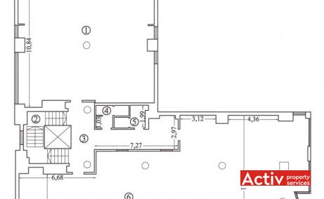 Tomis Business Center  plan clădire - închirieri spații de birouri în Constanța zona centrală