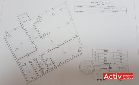 Mamaia 171, birouri de inchiriat in Constanta, plan etaj 3