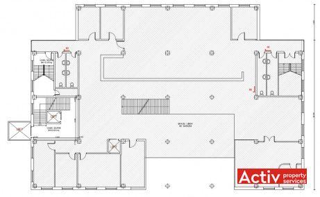 Unirii 20 plan clădire - spații de birouri disponibile în Baia Mare Camera de Comerț și Industrie