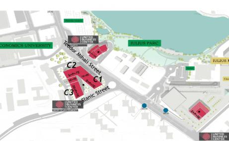 United Business Center Riviera plan clădire în construcție spații birouri Cluj Napoca în apropiere Iulius Mall