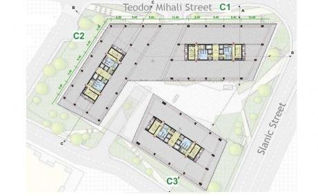 United Business Center Riviera plan clădire nivele superioare, birouri de închiriat în CLuj Napoca lângă Iulius Mall