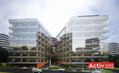 United Business Center Riviera spații de birouri Cluj în zona Iulius Mall, imagine stradală
