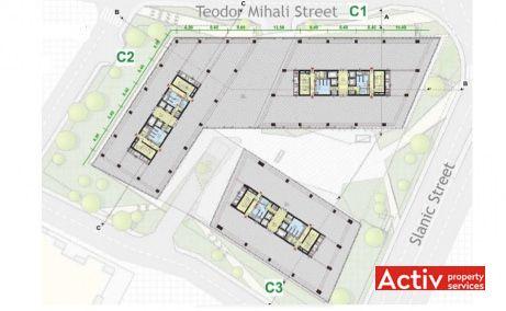 United Business Center Riviera închirieri spaţii birouri Cluj plan clădire