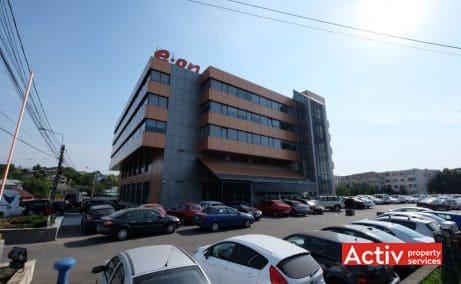 E-on Building vedere stradală de pe strada Vasile Lupu - spații de birouri ieftine în Iași