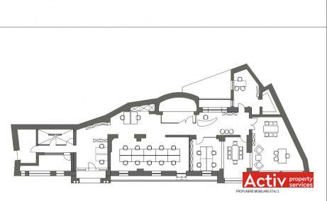 Vasile Lascar 144-146 închiriere birouri mici centru plan etaj 2