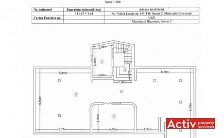 Vasile Lascar 144-146 spațiu de birouri zona centrală plan mansardă