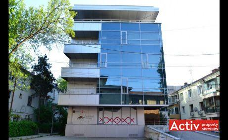 Strauss Business Center inchirieri spatii birouri mici in Bucuresti nord, detaliu de fatada