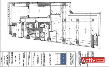 Strauss Business Center plan general cladire - spatii birouri nord de inchiriat in Bucuresti