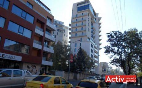 Alecto Building inchirieri birouri nord pe Strada Nicolae Caramfil in Bucuresti, vedere stradala