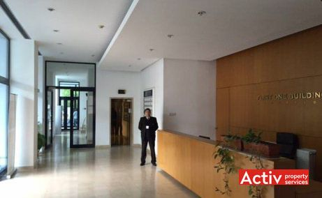 First One Building inchirieri birouri mici in Piata Unirii zona ultracentrala, imagine interior receptie