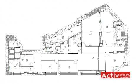 First One Building inchiriere birouri centru, plan general