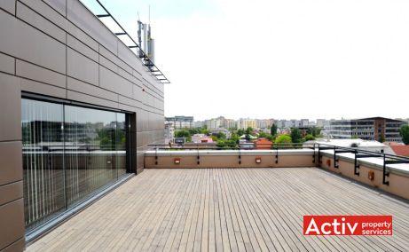 Gheorghe Titeica 142 inchirieri birouri mici pe Strada Gheorghe Ţiteica in Bucuresti nord, vedere terasa cladirii