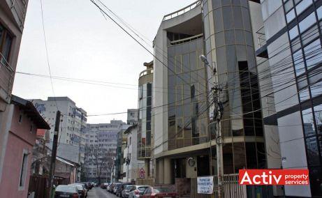 Închirieri birouri mici pe Strada Scărlătescu în clădirea Gematex, zona centrală Piață Victorie, imagine exterior imobil