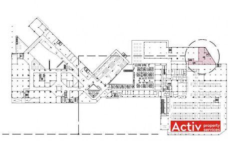 Iulius Business Center închiriere birouri Cluj-Napoca Iulius Mall plan