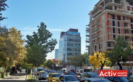 Aurel Vlaicu Office Building birou de închiriat București nord perspectivă incadrare in zonă