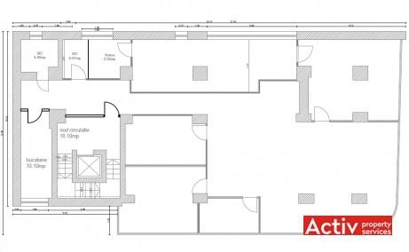 Aurel Vlaicu Office Building închiriere birouri metrou Aurel Vlaicu, plan