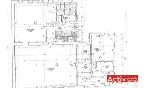 ZIDULUI 5 birou de închiriat Sibiu plan clădire