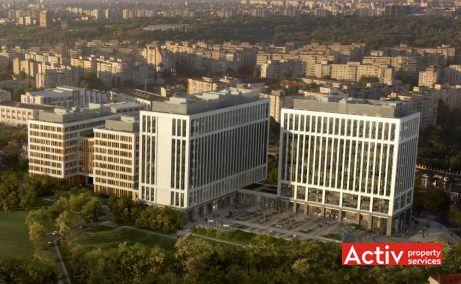 Timpuri Noi Square spatii de birouri de inchiriat zona centrala Bucuresti vedere aeriana cladiri de birouri