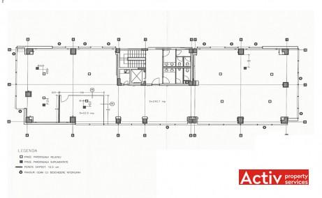 Centrul de Afaceri Nord închiriere birouri metrou Aurel Vlaicu, plan