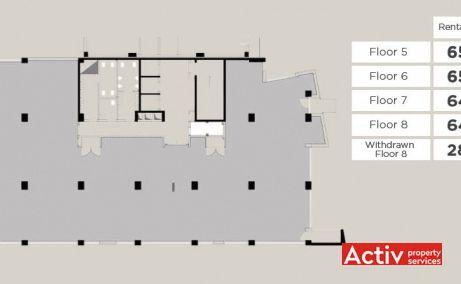 Vivido Business Center birouri de inchiriat Cluj-Napoca est plan etaj curent