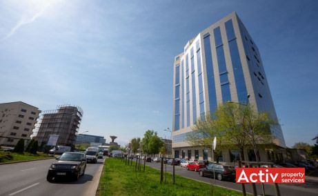 Tati Center, cladire cu spatii birouri de inchiriat, zona centrala, vedere access catre Bulevardul Regina Maria