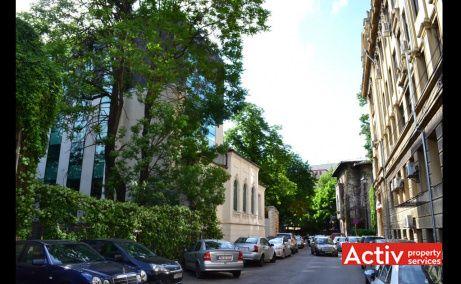 Filipescu Office Building, Filipescu 28, vedere catre Strada Batistei