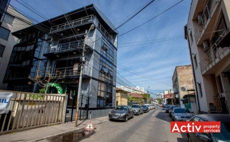 Scarlatescu 21, cladire de birouri de vanzare, zona Pietei Victoriei, vedere acces