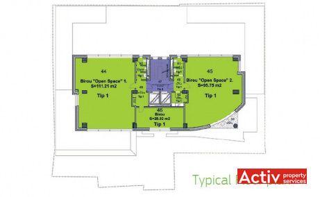 Multinvest Business Center, cladire birouri ultracentral Targu Mures, plan etaj