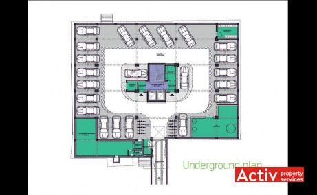 Multinvest Business Center, cladire birouri ultracentral Targu Mures, plan parcare subterana