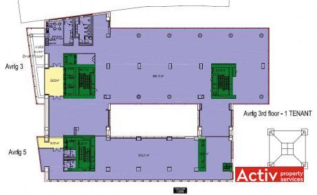 Avrig 3-5, spatii birouri de inchiriat, plan cladire