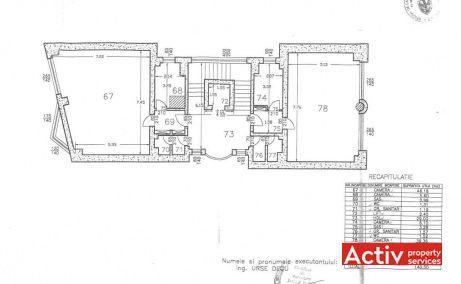 Competrol, spatii birouri ieftine de inchiriat, plan etaj curent