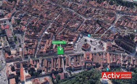 Muresenilor 8 inchiriere spatii de birouri Brasov central harta