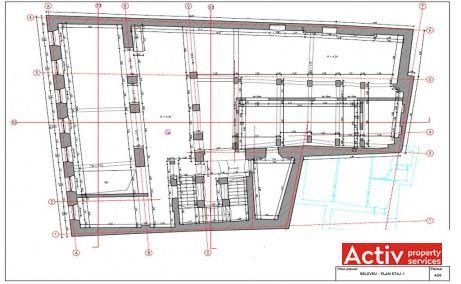 Muresenilor 8 inchiriere spatii de birouri Brasov zona centrala plan