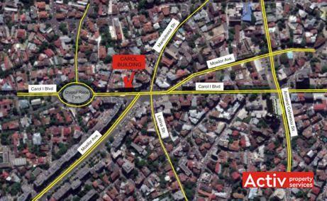 Carol Office Building inchiriere spatii de birouri Bucuresti central harta