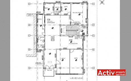 Nita Elinescu 56-58, spatii de birouri ieftine de inchiriat, plan etaj curent