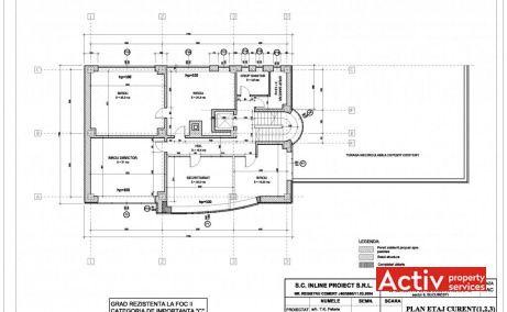 Apostol Office Building, etaj in cadrul unei cladiri de birouri de vanzare, plan etaj curent