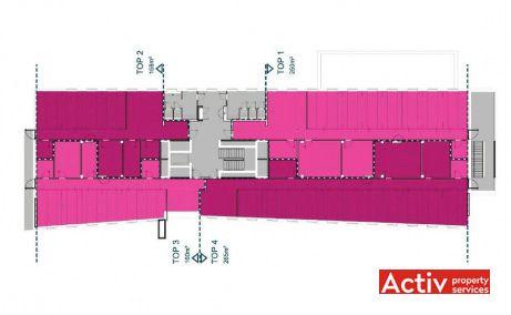 Aviators Park birouri de inchiriat Bucuresti zona de nord Bdul. Aeroportului 11 plan