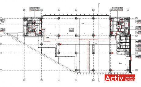 BCR Timisoara zona Iulius Mall inchiriere spatii de birouri Timisoara central plan etaj curent