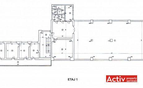 Imobil birouri cu parcare Sector 5 birouri de inchiriat Bucuresti sud plan etaj 1