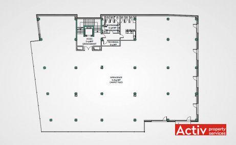 Mainstream Office birouri de inchiriat Cluj-Napoca zona centrala plan etaj curent