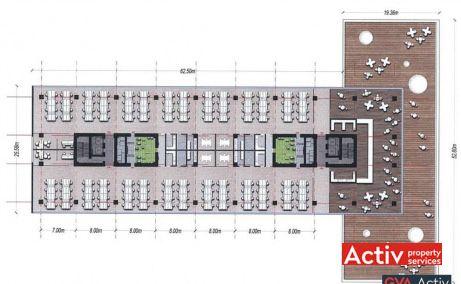 BEGA BUSINESS PARK închiriere birouri zona centrală Timișoara plan etaj