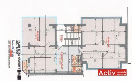 Aviator Popisteanu 16 inchiriere spatii de birouri Bucuresti nord plan etaj curent