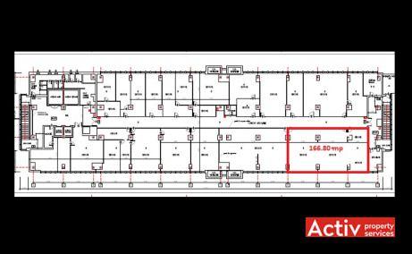 Electroaparataj Office Building birouri de inchiriat Bucuresti est plan etaj curent
