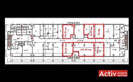 Electroaparataj Office Building birouri de inchiriat Bucuresti zona de est plan